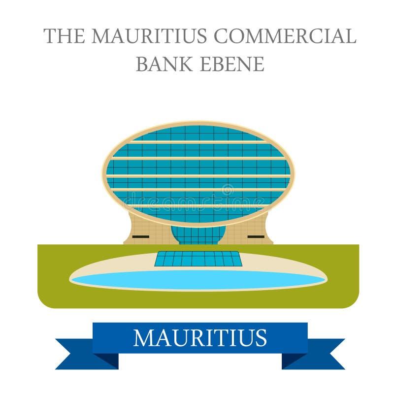 Mauritius Commercial Bank Ebene Vettore piano i illustrazione vettoriale