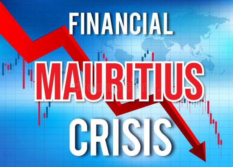 Mauritius Financial Crisis Economic Collapse Market Crash Global Meltdown. Illustration stock illustration