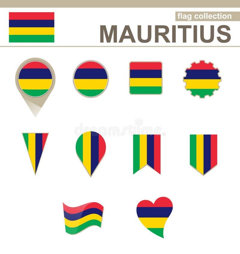 Mauritius Flag Collection ilustração do vetor