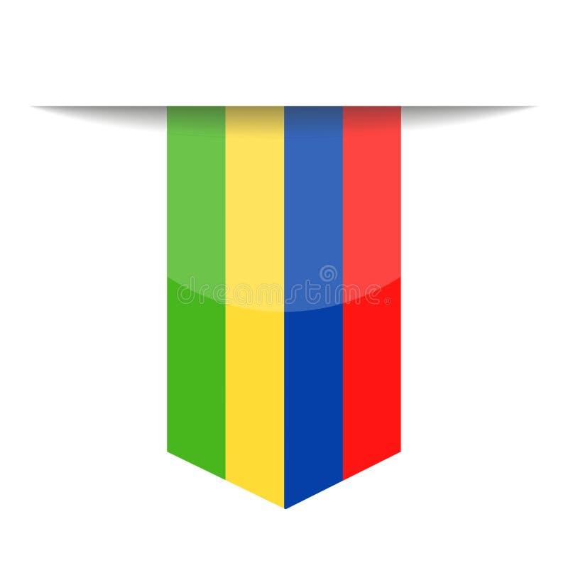 Mauritius Flag Vector Bookmark Icon libre illustration