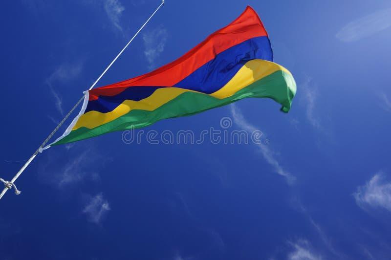 Mauritius flag. The flag of Mauritius,waving royalty free stock photo