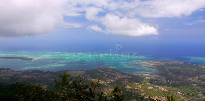 Mauritius Island, costa del sudoeste, Ariel View fotografía de archivo