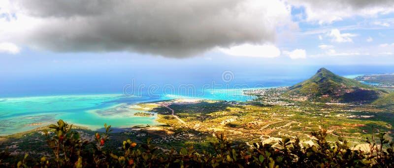 Mauritius Island, costa del sudoeste, Ariel View imagen de archivo libre de regalías