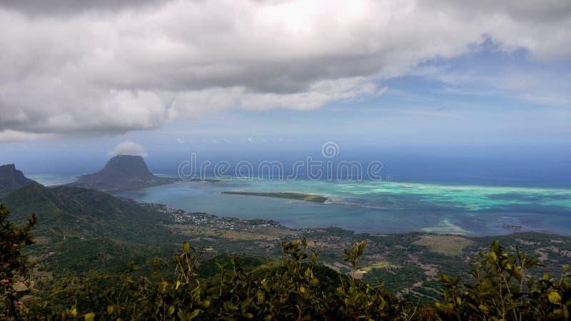 Mauritius Island, costa di sud-ovest, Ariel View fotografie stock