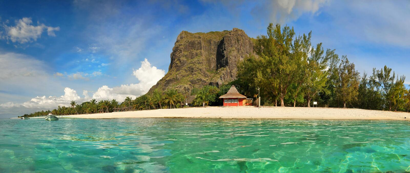 Mauritius Island, Le Morne Beach, Luxury Vacation Resort stock image
