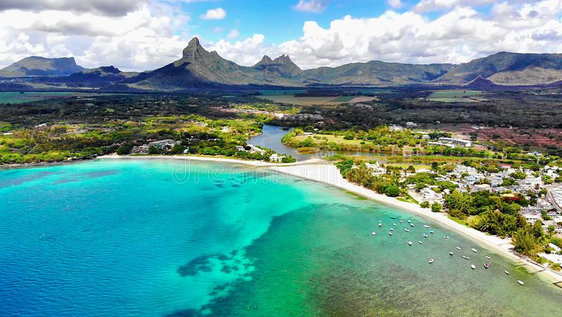 Mauritius Island, luchtmening royalty-vrije stock afbeelding
