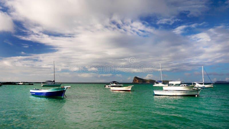 Mauritius Island, porto dos barcos do Oceano Índico fotografia de stock royalty free