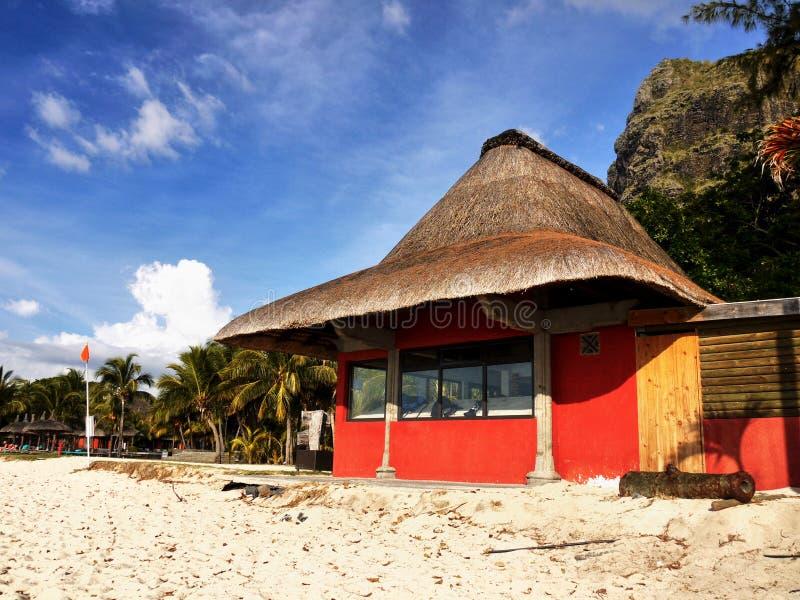 Mauritius Island, station de vacances de voyage de vacances de plage image libre de droits