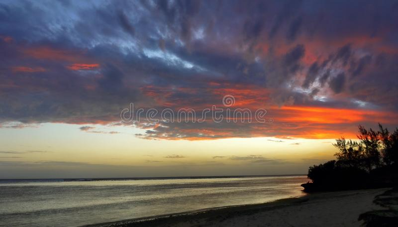 Mauritius Island Sunset fotografía de archivo libre de regalías