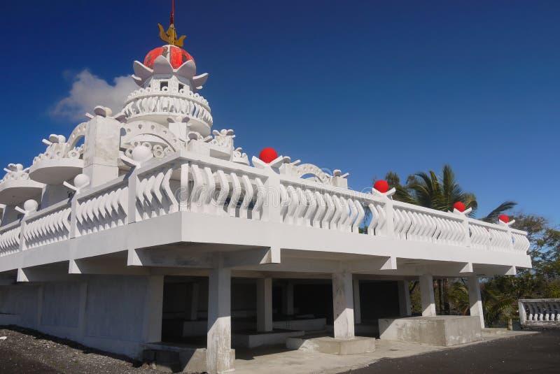 Mauritius Island, templo hindú, poste de Flacq fotos de archivo
