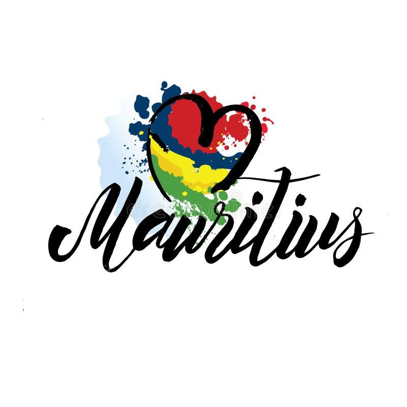 mauritius kraju flaga poj?cie z grunge projektem stosownym dla logo ikony projekta obraz royalty free
