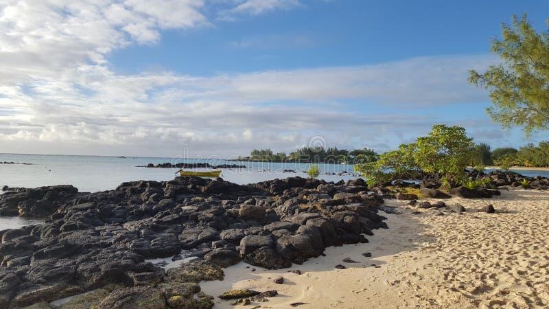 Mauritius Maurice stones ocean royalty free stock photo