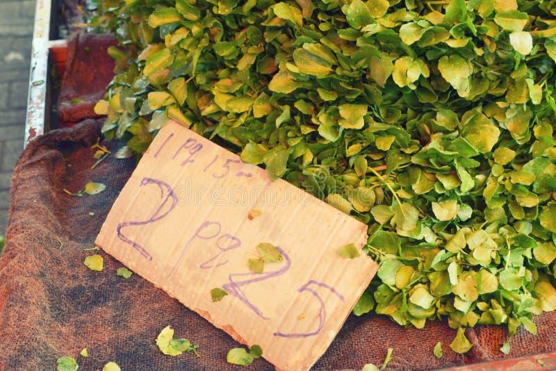 mauritius Mercado de la mañana, precio vegetal foto de archivo libre de regalías