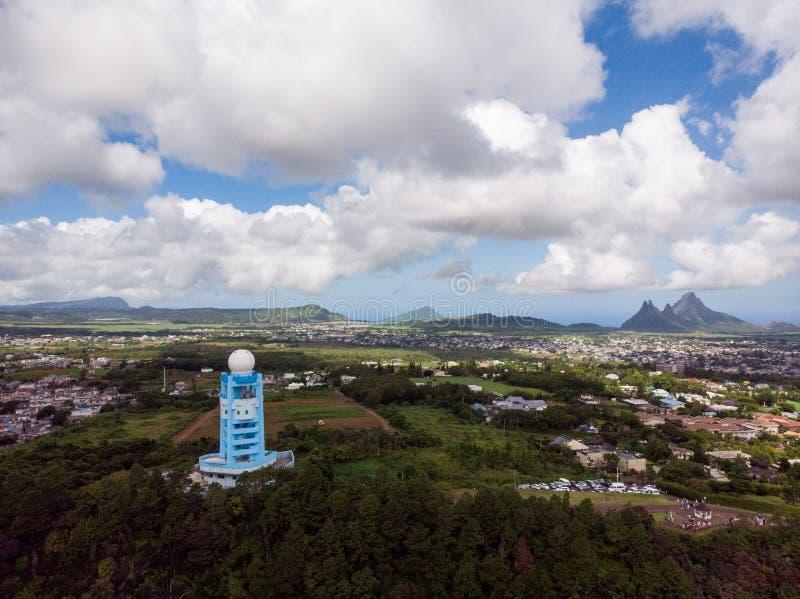 Mauritius Meteorologicznych usług Doppler Pogodowa Radarowa stacja zdjęcia stock