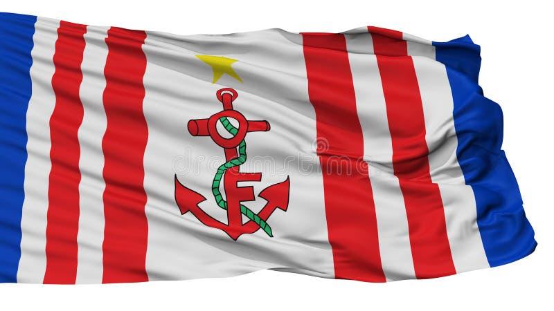 Mauritius Naval Ensign Flag, op Wit wordt geïsoleerd dat stock illustratie