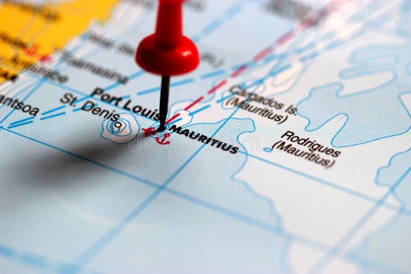 Mauritius Political Map mit Hauptstadt Port Louis, die Inseln Rodrigues und Agalega und mit dem Archipel Heiligen Brandon lizenzfreie stockfotografie