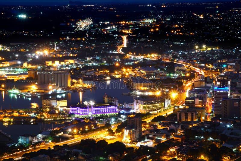 Mauritius Port-Louis flyg- sikt royaltyfria bilder