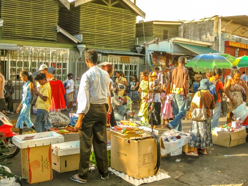 Mauritius Port Louis Market fotos de archivo