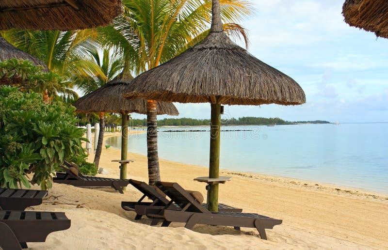 Mauritius resort beach royalty free stock photo