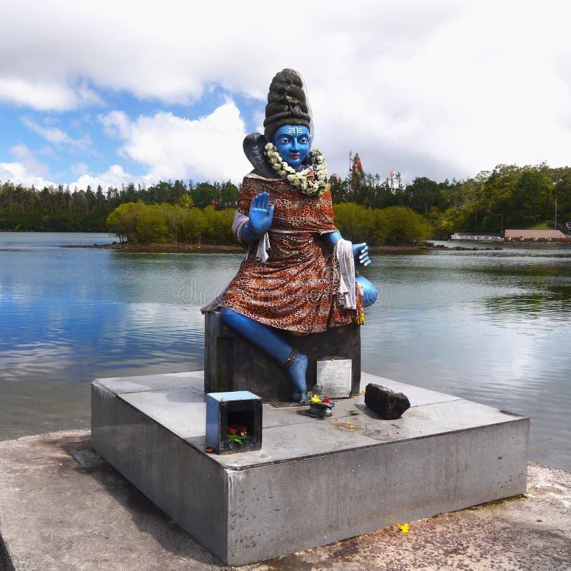 Mauritius, Shiva statua, Jeziorna Uroczysta Bassin świątynia obraz stock