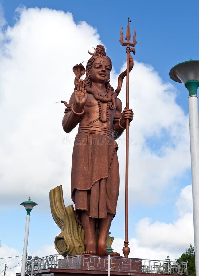 mauritius Shiva-Statue an großartigem Bassin-Tempel stockfotos