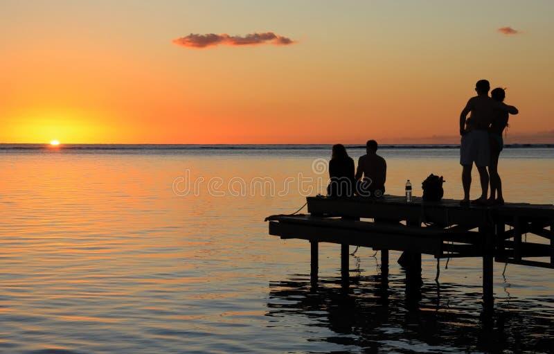 mauritius solnedgång royaltyfri foto