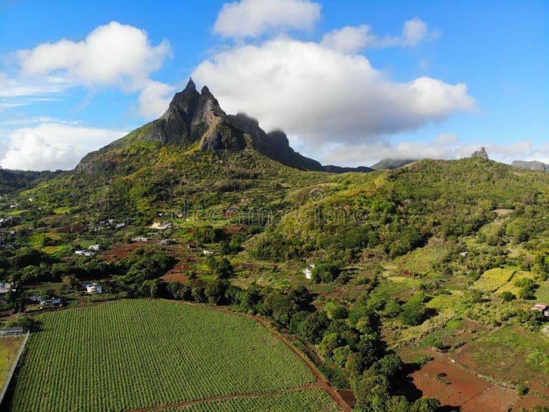 Mauritius Volcanic Landscape Mountains image stock