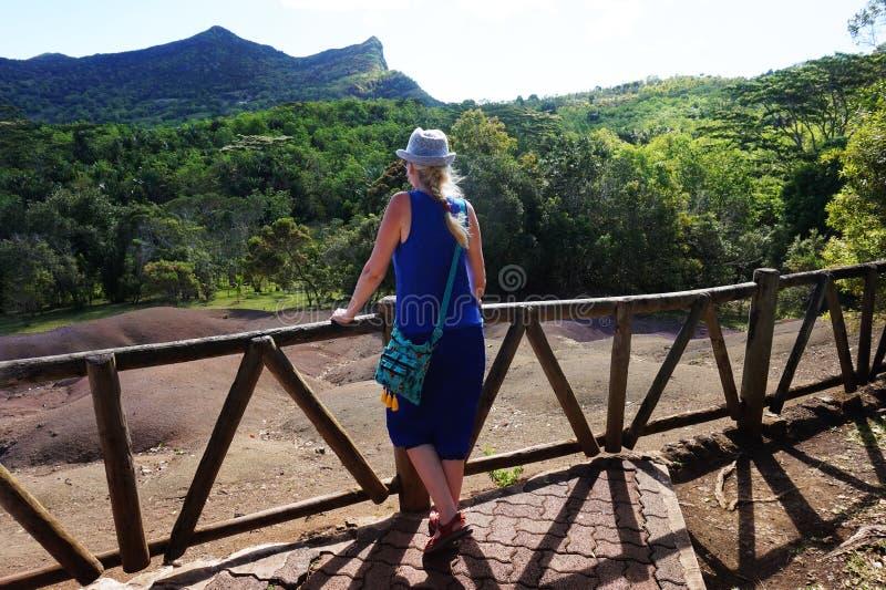 Mauritius - ziemia siedem kolorów zdjęcie stock