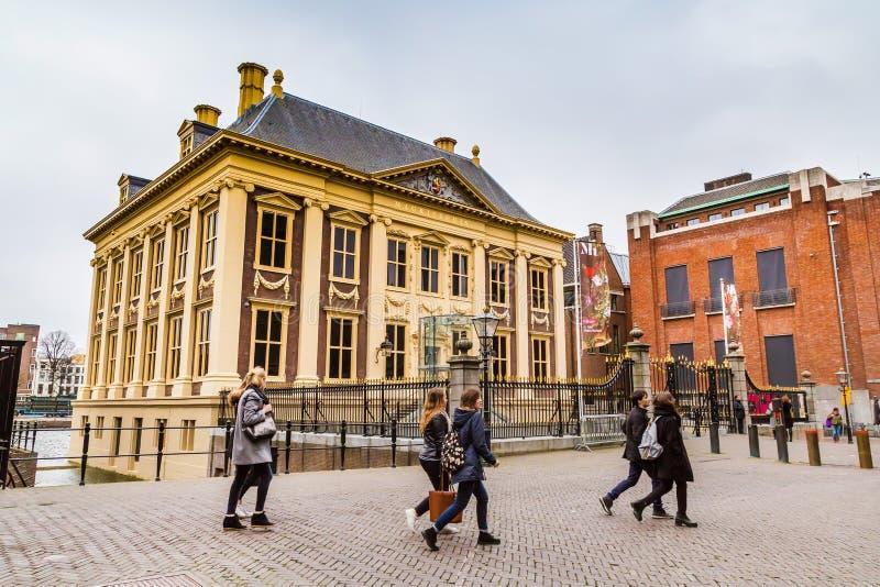 Mauritshuis lub Maurice Domowy muzeum sztuki w Haga, Holandia zdjęcia stock