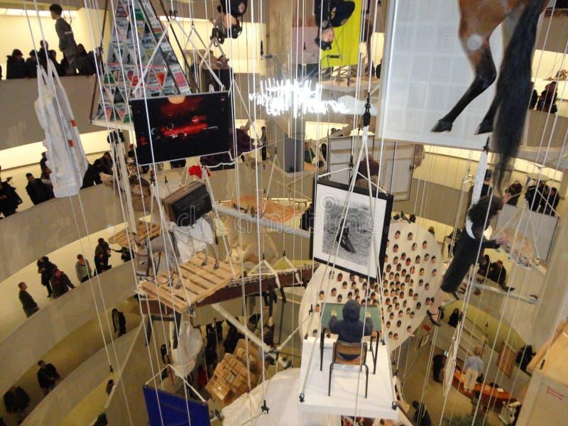 Maurizio Cattelan: Wszystko Przy Guggenheim NYC 32 obrazy stock
