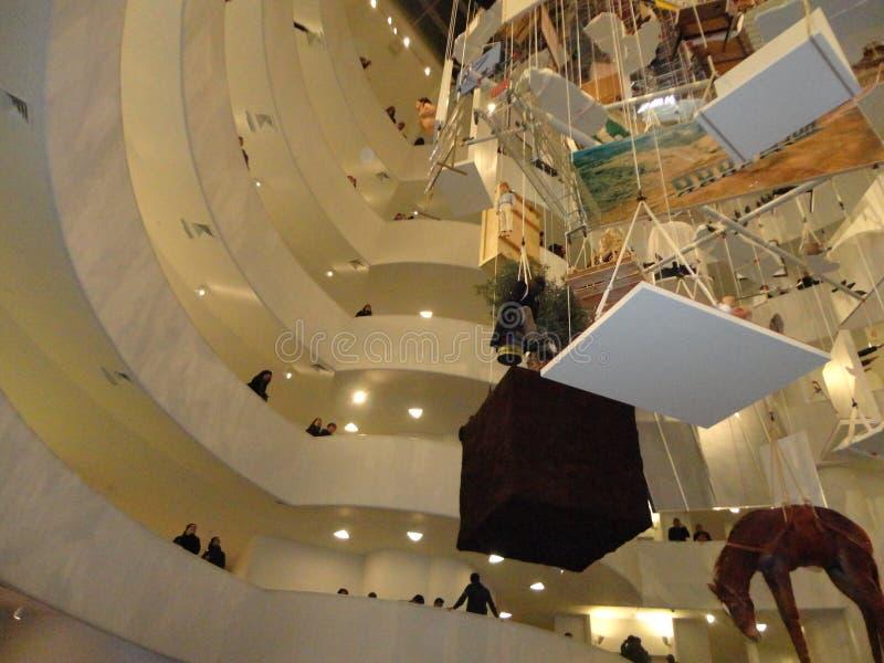 Maurizio Cattelan: Wszystko Przy Guggenheim NYC 35 fotografia stock