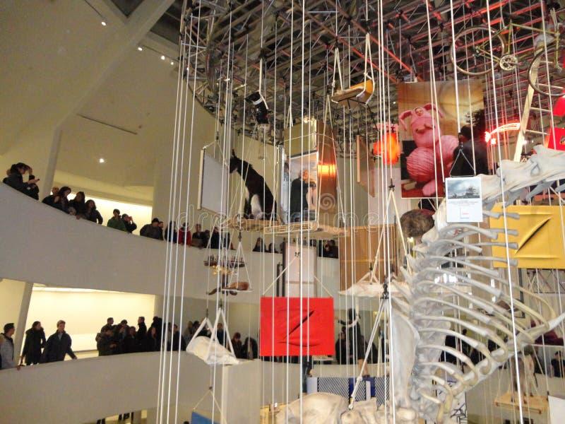 Maurizio Cattelan: Wszystko Przy Guggenheim NYC 40 fotografia royalty free