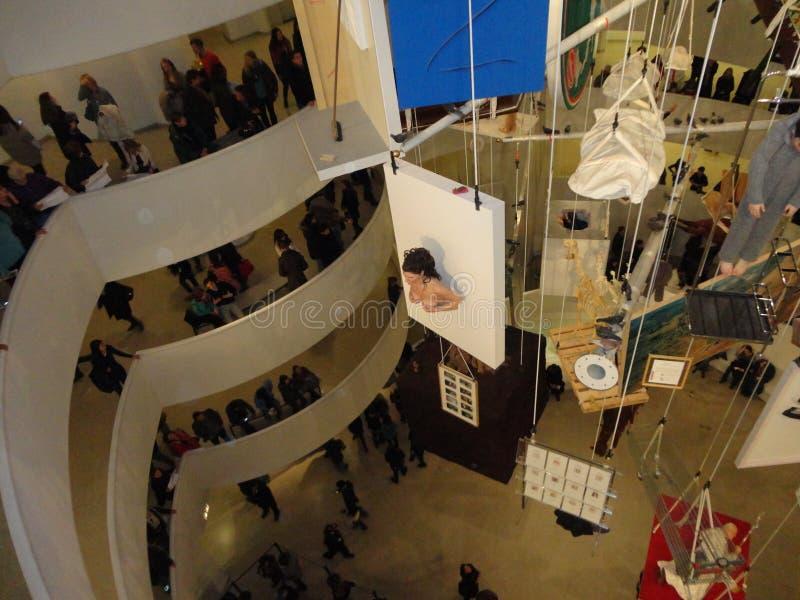 Maurizio Cattelan: Wszystko Przy Guggenheim NYC 43 fotografia stock