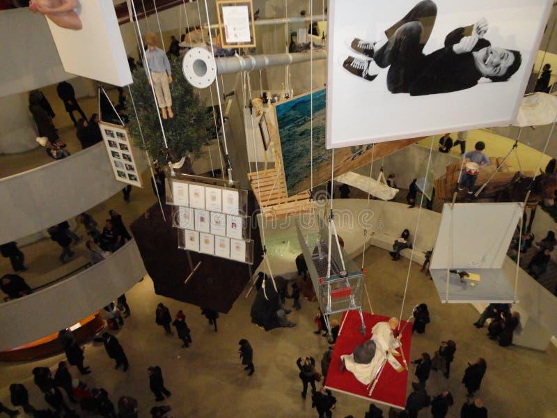 Maurizio Cattelan: Wszystko Przy Guggenheim NYC 59 obraz stock