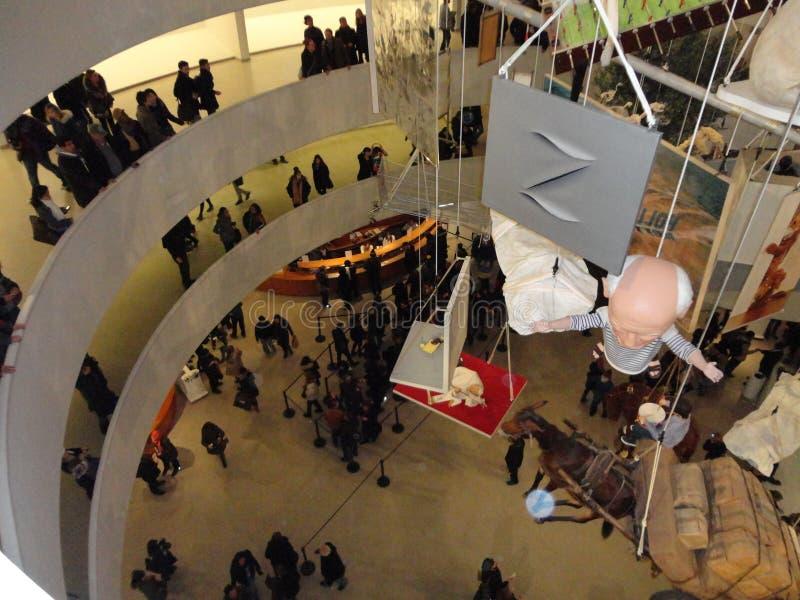 Maurizio Cattelan: Wszystko Przy Guggenheim NYC 61 obraz stock
