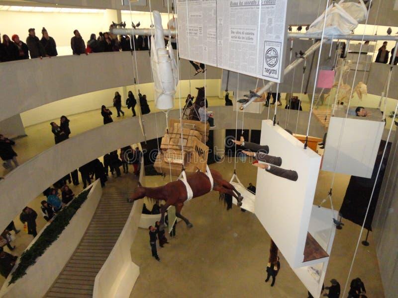 Maurizio Cattelan: Wszystko Przy Guggenheim NYC 72 zdjęcie royalty free
