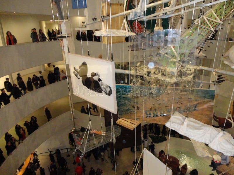 Maurizio Cattelan: Wszystko Przy Guggenheim NYC 78 zdjęcie stock