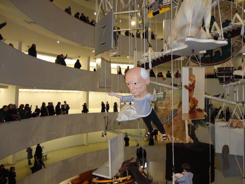 Maurizio Cattelan: Wszystko Przy Guggenheim NYC 85 zdjęcie royalty free