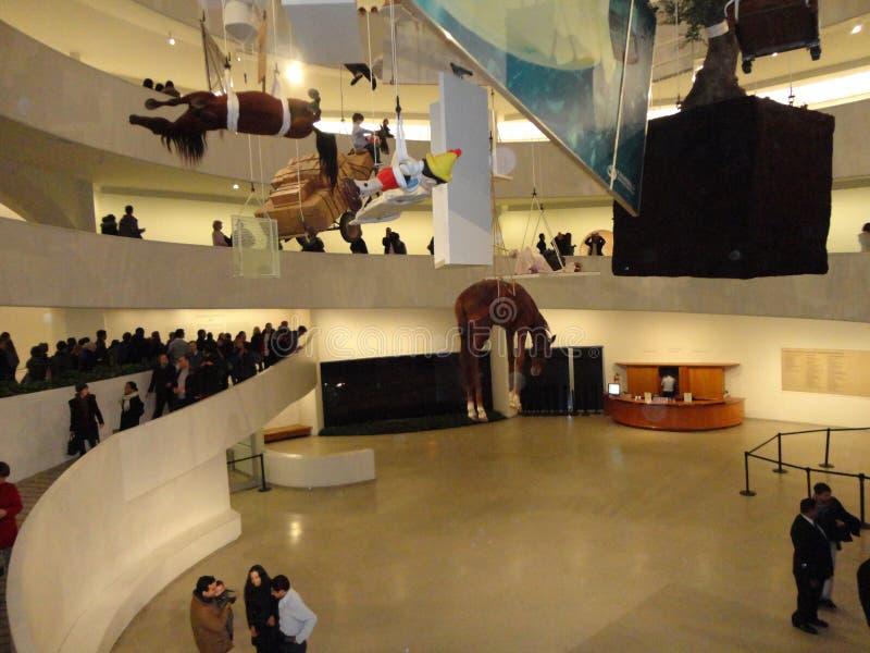Maurizio Cattelan: Wszystko Przy Guggenheim NYC 9 obraz royalty free