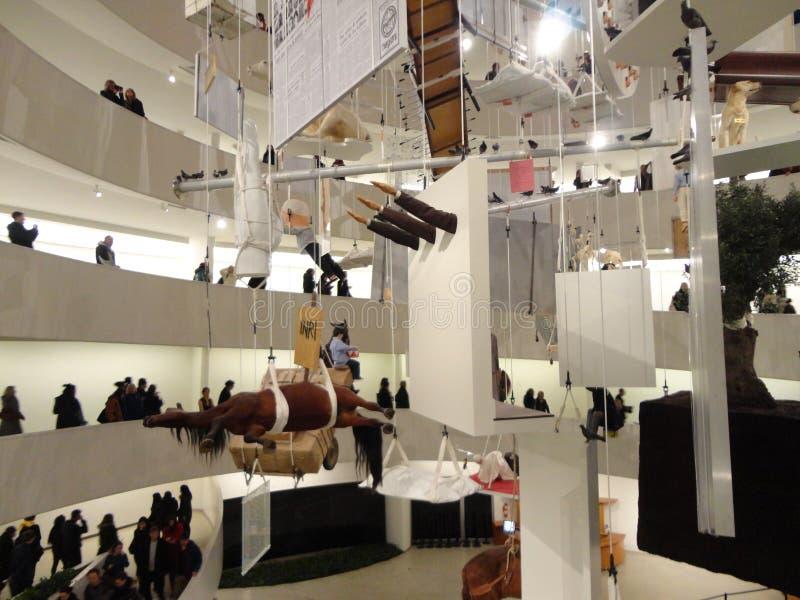 Maurizio Cattelan: Wszystko Przy Guggenheim NYC 12 obrazy stock