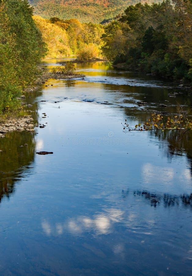 """Maury River †""""Goshen, Virginia, de V.S. royalty-vrije stock fotografie"""