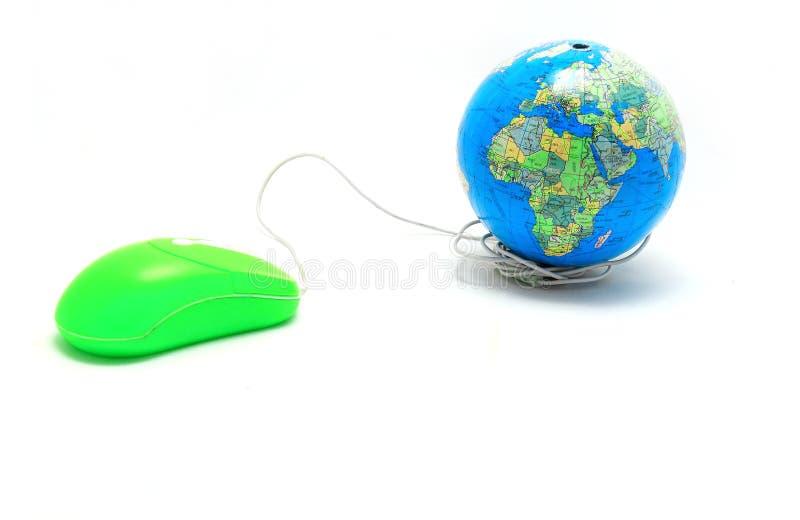 Maus und Kugel, globale Kommunikation, Zwischen lizenzfreies stockbild