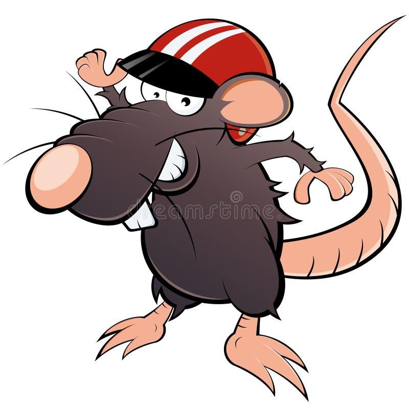 Maus, wenn Sturzhelm gelaufen wird lizenzfreie abbildung