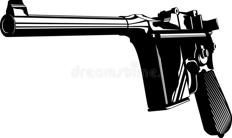 Download Mauser 712 stock vector. Image of army, armed, automatic - 9610773