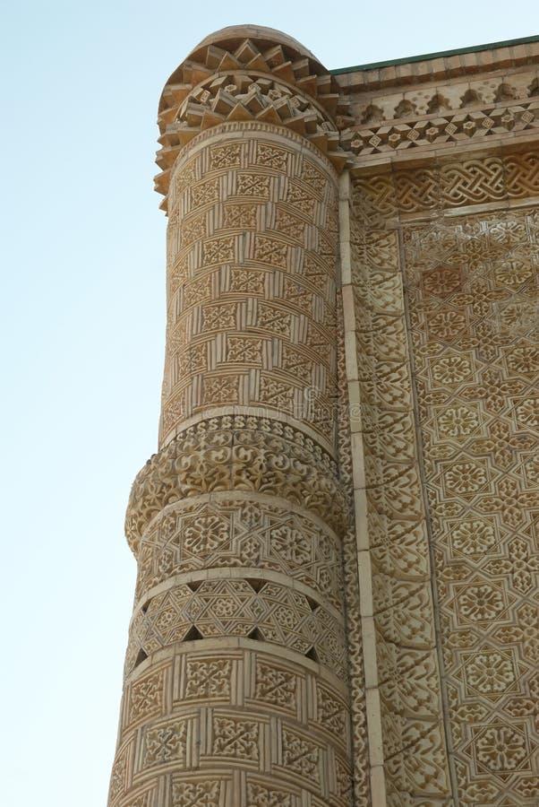 Mausolée Aisha-Bibi Une manière en soie Kazakhstan photographie stock