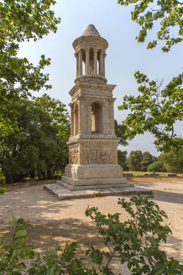 Mausolée célèbre du Julii (Glanum, Provence) photos stock