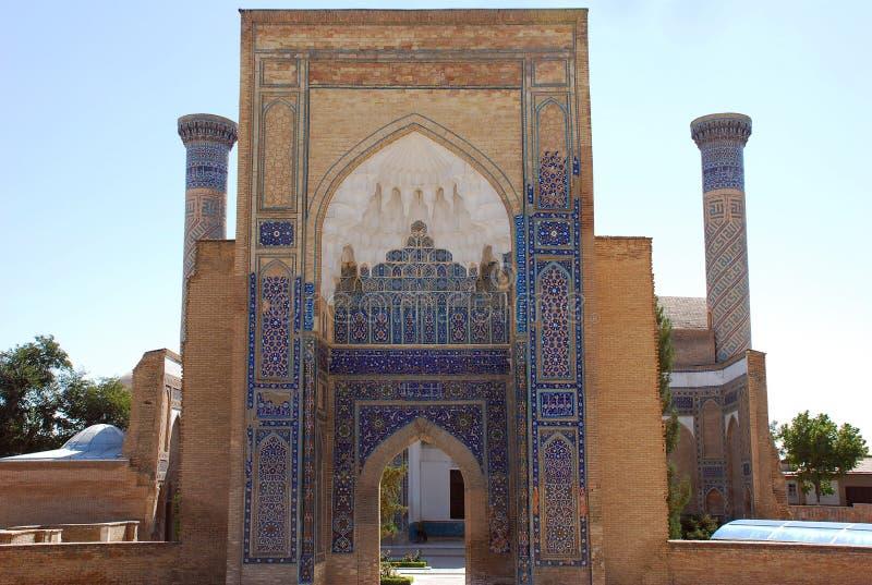 Mausolée d'Amir Timur à Samarkand image libre de droits
