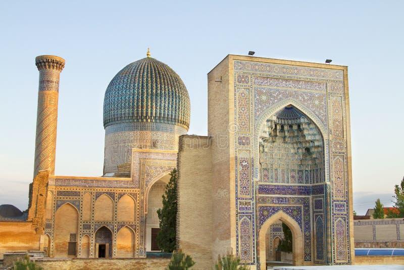 Mausolée d'Emir Timur à Samarkand image stock