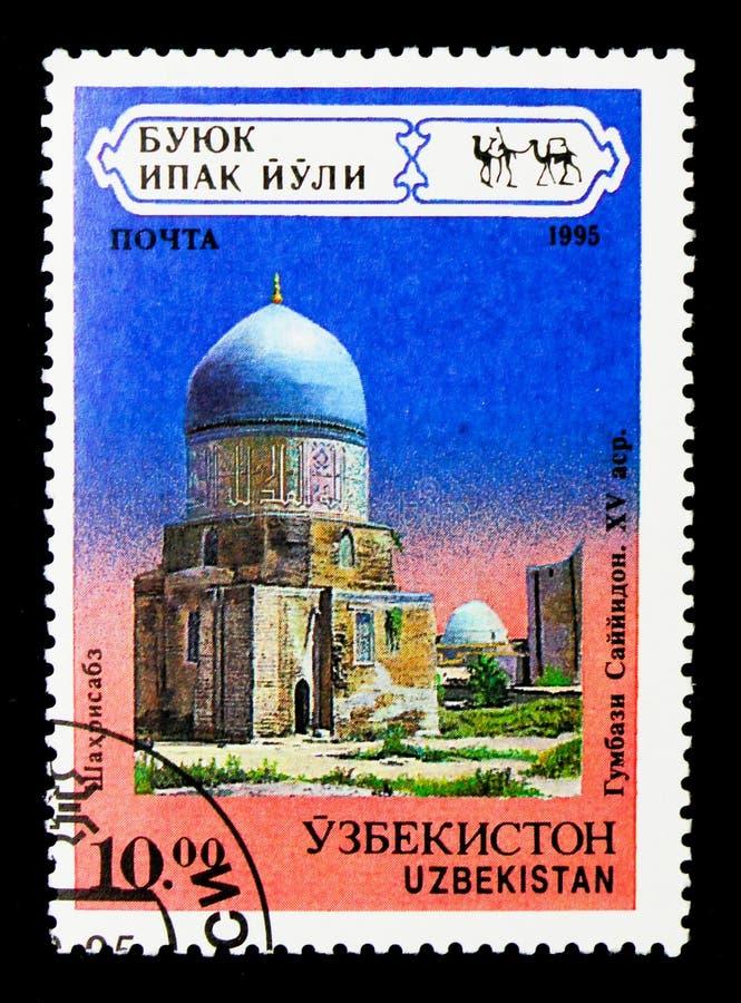 Mausolée d'en-vacarme de Gumbas-Sain, Shakhrisabz, XV siècle, architecte photographie stock