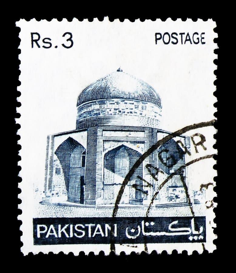 Mausolée d'Ibrahim Khan Makli Thatta, serie, vers 1980 photographie stock libre de droits